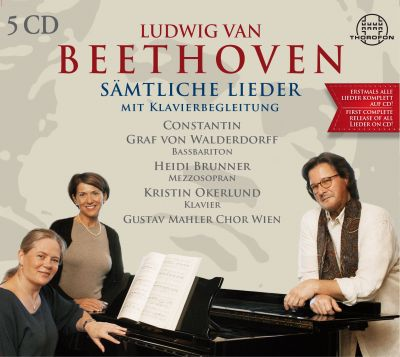 Ludwig van Beethoven - All German Lieder with piano accompaniment - 5 CD